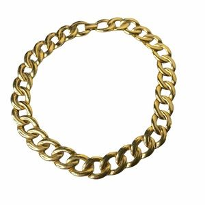 Vintage Napier Chunky Gold Chain Link Necklace